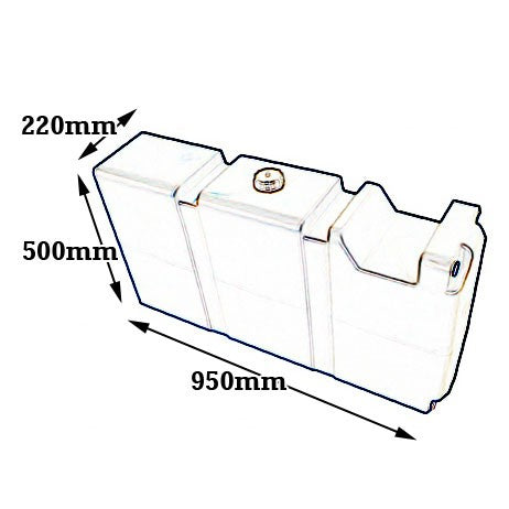 80 LITRE LONG WATER TANK WITH MOUNT KIT