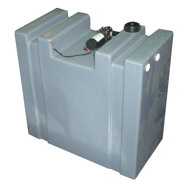 90 LITRE UPRIGHT WATER TANK WITH 12V PUMP