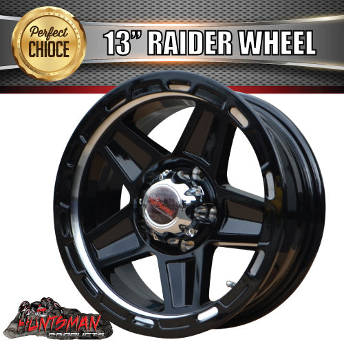 13X5 Raider Alloy Mag Wheel suits Ford. Caravan Trailer Boat Jetski 5/114.3 PCD