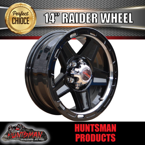 14X5.5 Raider Alloy Mag Wheel suits Ford Caravan Jetski Boat Trailer 5/114.3 PCD