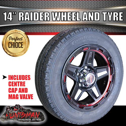 "14"" & 175/65R14 LT Tyre Raider Alloy Mag Wheel suits Ford. 175 65 14"