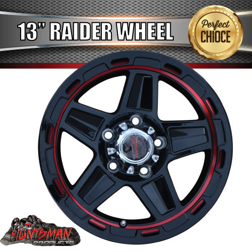 13X5 Raider Alloy Mag Wheel suits Ford Caravan Jetski Boat Trailer 5/114.3 PCD