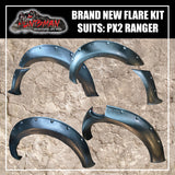 Flare Kit. suits PX2 Ford Ranger. Textured Black finish. 6 piece kit. 2015+