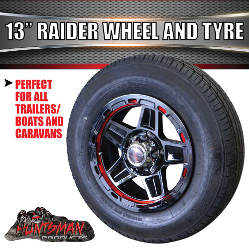"13"" Raider Alloy suits Ford & 165R13C Tyre. 165 13"