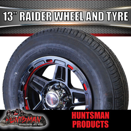 "13"" Raider Alloy & 155R13C Tyre. suits Ford. 155 13"