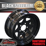 "14"" BLACK POWDERCOATED RIM: SUITS FORD PATTERN"