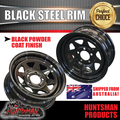 "14"" BLACK POWDERCOATED RIM- HT HOLDEN"