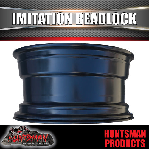17X8 5/127 PCD +6 Offset Steel Imitation Beadlock Rim. Suit Jeep