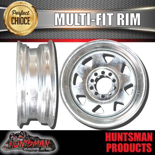 "13"" GALVANISED RIM- 5 STUD MULTI FIT. SUITS FORD & HT HOLDEN"