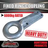"6000kg Trailer Ring Coupling Off Road Hitch Suit Pintle Hook 3"" ID"