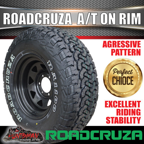 "215/75R15 Roadcruza  RA1100 100S A/T Tyre on 15"" Black Steel Wheel. 215 75 15"