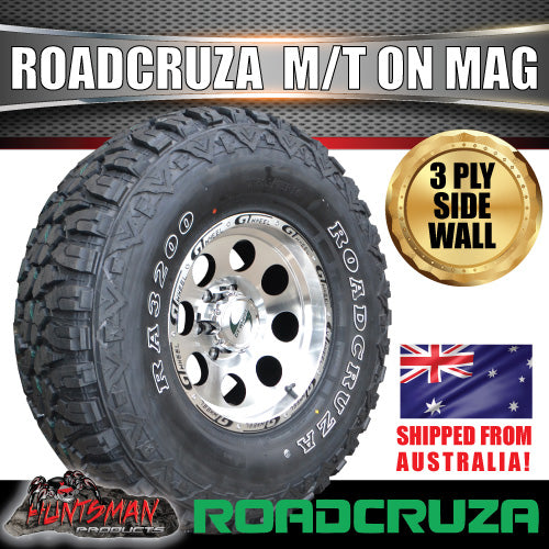 "15"" GT Alloy Mag Wheel & 32X11.5R15 Roadcruza Mud 4wd Tyre. 32 11.5 15"