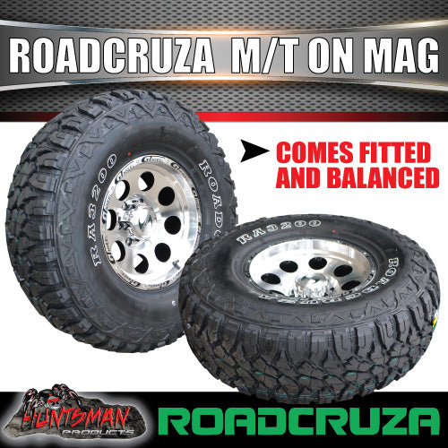 "15"" GT Alloy Mag & 31X10.5R15 Roadcruza 4wd Tyre. 31 10.5 15"