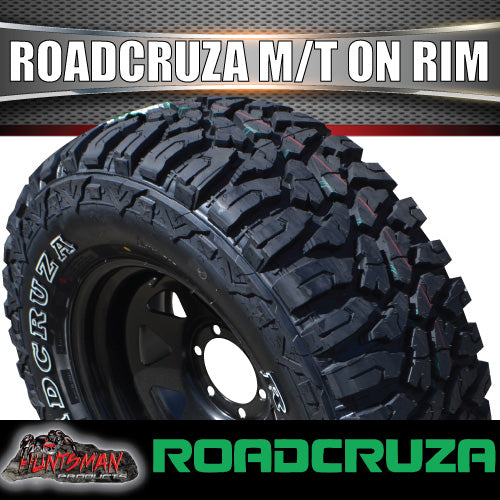 "265/70R17 L/T Roadcruza MUD tyre on 17"" black steel rim"