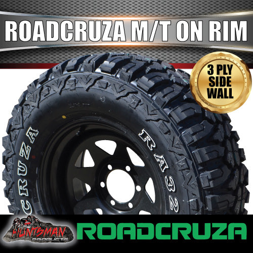 "17"" black steel wheel & Roadcruza 285/70R17 L/T MUD tyre."