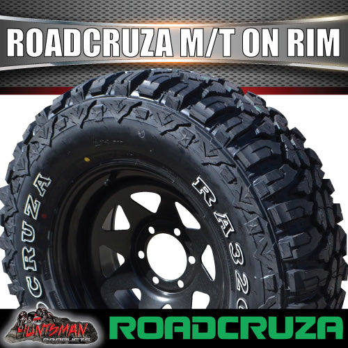 "285/70R17 L/T Roadcruza MUD tyre on 17"" black steel rim. 285 70 17"