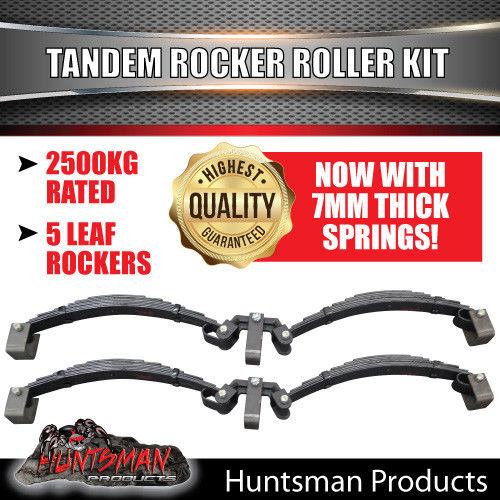 DIY 2000kg TANDEM TRAILER SUSPENSION KIT.  HYDRAULIC DISC BRAKES. ROCKER ROLLER SPRINGS