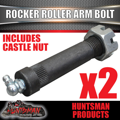 x2 Greasable Rocker Roller Mddle Arm Replacement High Tensile Bolt 19MM X 85MM