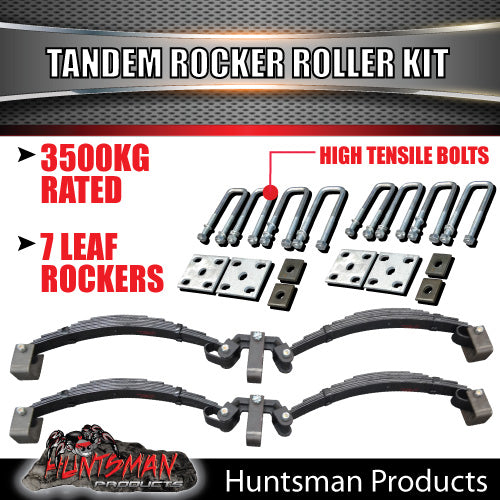 7 Leaf Rocker Roller Spring Set & High Tensile U bolt Kit.