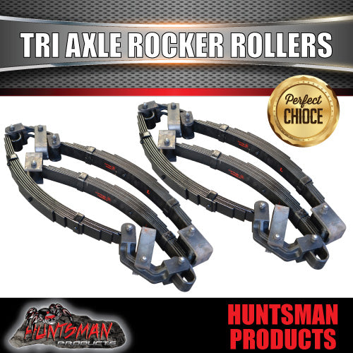 7 LEAF TRI AXLE ROCKER ROLLER TRAILER SPRING SET 5250kg