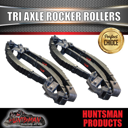 9 LEAF TRI AXLE ROCKER ROLLER TRAILER SPRING SET 6750kg