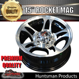 15x6 Rocket Alloy Mag Wheel: suits Ford pattern
