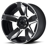 KMC XD ROCKSTAR 2 17x8 Machined Black Alloy Mag Wheel