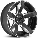 KMC XD ROCKSTAR 2 22x9.5 Machined Black Alloy Mag Wheel