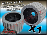 "x1 BOAT TRAILER WOBBLE ROLLER. 4"" WITH 25MM BORE"