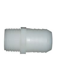 "MALE THREAD HOSE BARB 3/4"" TO 1/2"""