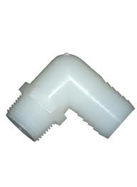 "MALE THREAD HOSE BARB ELBOW 1/2"" TO 1/2"""