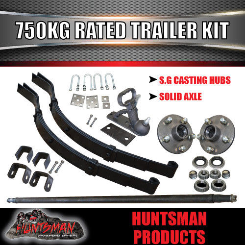 DIY SINGLE AXLE TRAILER KIT. 750KG RATED.