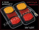 x2 Roadvision BR80AR LED Rear Combination Lamp Lights