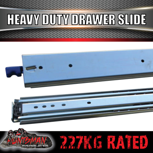"Pair 227kg x 1200mm 48"" (closed) Lock in/out Drawer Slides."