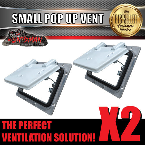 X2 Small white pop up ROOF AIR VENTS