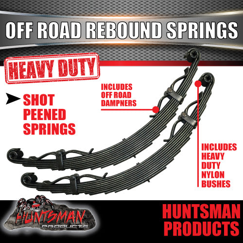x2 9 Leaf Off Road springs 2000Kg with Rebound Straps