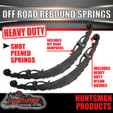 x2 10 Leaf Off Road springs 2500Kg with Rebound Straps