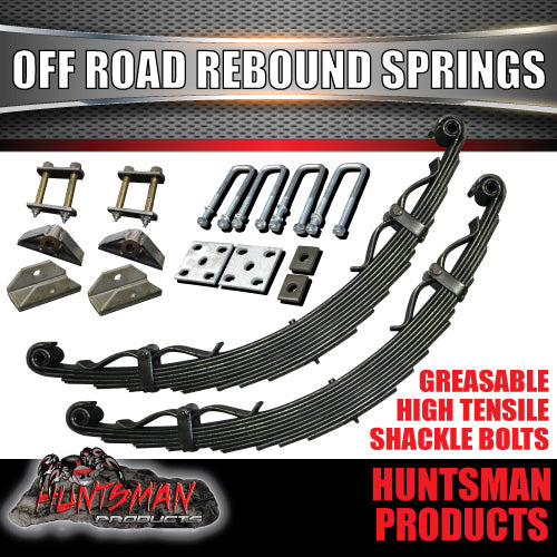 9 LEAF OFF ROAD TRAILER SPRING SET. 2000kg