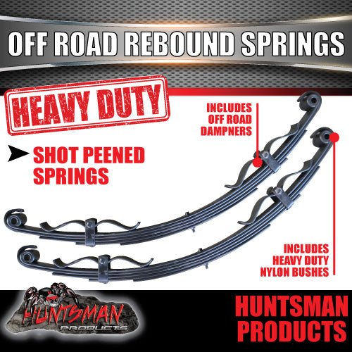 5 LEAF OFF ROAD TRAILER SPRING SET. 1200Kg