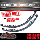 x2 5 Leaf Off Road springs 1200Kg with Rebound Straps