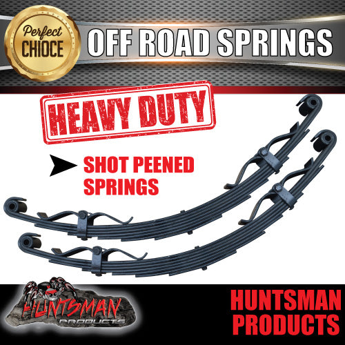 x2 6 Leaf Off Road springs 1350Kg with Rebound Straps