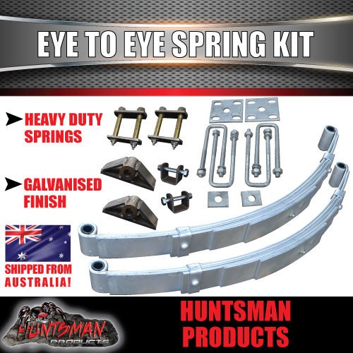 DIY 1000KG Boat Jetski Trailer Kit. Galvanised Axle, Decromat Eye to Eye springs