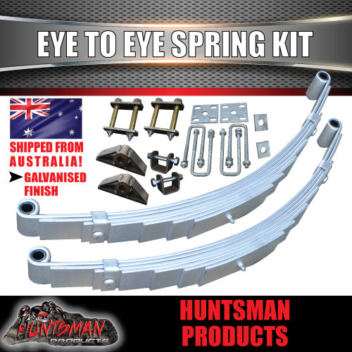DIY 1400KG BOAT JET SKI TRAILER KIT. EYE TO EYE SPRINGS.
