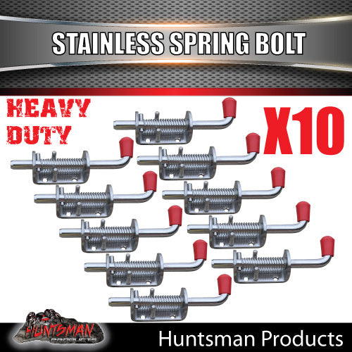 X10 Truck Trailer Stainless Spring Bolt Latch Catch. 12X160MM