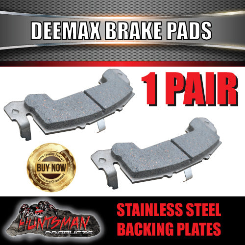 pair stainless deemaxx replacement trailer brake pads. suit 1 caliper