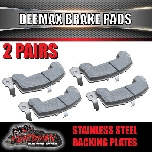 X2 pair stainless deemaxx replacement trailer brake pads. suit 2 calipers