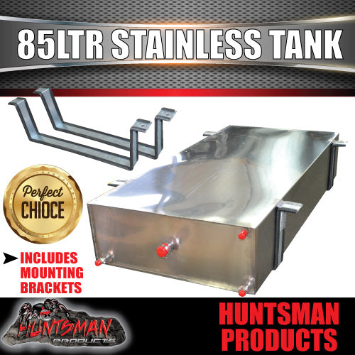85 Litre Stainless Steel Water Tank & brackets. 1mm