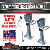 X2 470mm DROP DOWN CORNER STEADIES, STABILIZER LEGS. & HANDLE