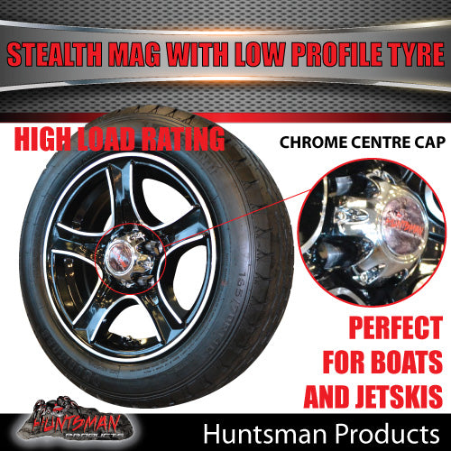 "Low Profile 14"" Stealth Mag & 175/65R14C LT Tyre: suits Ford pattern"
