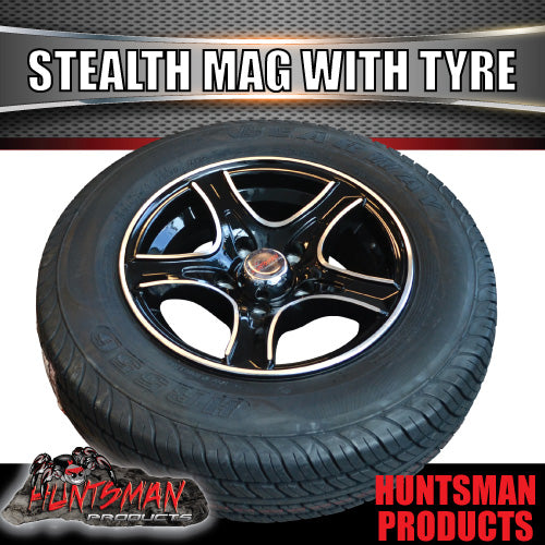 "14"" Stealth Alloy & 185R14C Tyre. HT Pattern. 185 14"